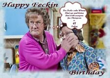 personalised Birthday card Mrs Browns boys dad son mum brother