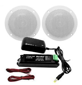 Bluetooth Einbaulautsprecher Set 2 Stück IP66 für Bad,Küche,Boot,Pool Haus