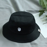 A Bating APE Goods APE Head Embroidery Bucket Hat L Size Black Japan New