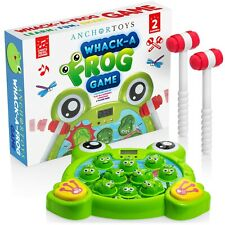 Anchor Toys Whack A Frog Game for Toddlers - Whack a Mole Style Family Games