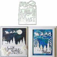 Merry X'mas Metal Cutting Dies Stencil Scrapbooking Album Paper Card Craft