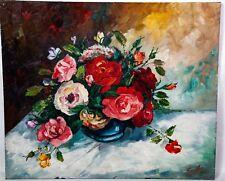 Tableau signé Zorriffa - Composition florale- Huile sur toile