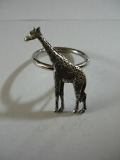 Giraffe codea10 Made From Fine English Pewter on a Scarf Ring