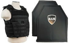 Level IIIA 3A | Body Armor Inserts | Bullet Proof Vest | Exp BLACK M-XXL+ 10x12