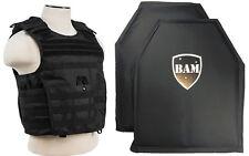 Level IIIA 3A | Body Armor Inserts | Bullet Proof Vest | Expert Vest -BLACK M-XL