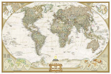 National Geographic - World Executive, Poster Size Map Laminated Poster - 36x24