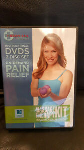 Therapy Ball Program/Massage Therapy Kit 2 DVD's Instructional Pain Relief Yoga