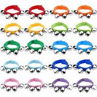 Augshy 20 Pcs Wrist Band Jingle Bells Musical Rhythm Toys10 ColorsMusical Ins...