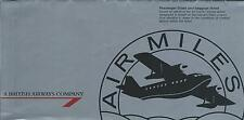 Airline Ticket - British Airways Air Miles - 2 Flight Format Silver c1992 (T374)