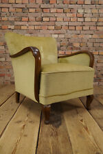 VINTAGE ART DECO SESSEL HALABALA ÄRA CLUBSESSEL HYGGE POLSTERSESSEL EASY CHAIR