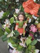 Cicely Mary Barker GERANIUM Flower Fairy Ornament Figurine RETIRED!  #86992