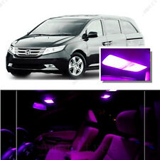For Honda Odyssey 2014-2016 Pink LED Interior Kit + Pink License Light LED