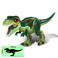 T-Rex Green Jurassic World - 6 Inches Tall Big Dinosaur Building Blocks Kids Toy