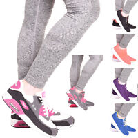 Ladies Womens Lace Up Running Gym Fitness Sports Walking Trainers Shoes Size 3-8