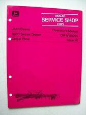 Original John Deere 1600 Series Drawn Chisel Plow Operators Manual