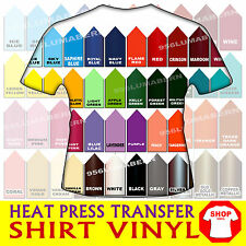 5 sheet 3x12 Heat Press thermal transfer vinyl Computer Cut Textile Remnant