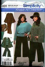 Cape, Top, Gauchos, Skirt - KHALIAH ALI Simplicity Pattern - Sizes 26W-32W UNCUt