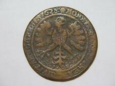 SWEDEN 1628 1 ORE CROWNED ORNATE SHIELD EAGLE LOW GRADE WORLD COIN 🌈⭐🌈