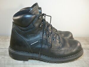 Red Wing 923 Black Turbo Vegas Mens Black Leather Work Supersole Boots Size 10.5