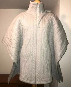MM6 MAISON MARTIN MARGIELA Poncho Jacke Quilt WOW! rare Fashion grey one size.
