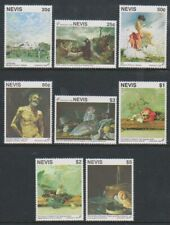 Nevis - 1992, Granada Int Stamp Exhibition, Paintings set - MNH - SG 669/76