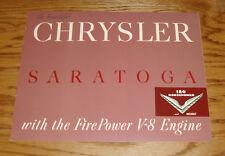 Original 1952 Chrysler Saratoga Sales Brochure 52