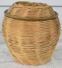"""Basket - Hand-Woven - Collectible - Surprise Inside - 5"""" x 6"""" = Catch-All"""