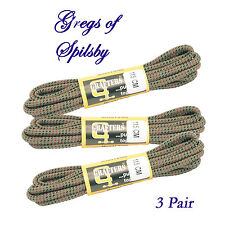 "Heavy Duty Cachi Rosso Nero 115 cm (45 "") Hiking Boot Laces 3 PAIA 5-8 Eye Hiker"