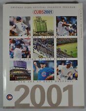 Chicago Cubs 2001 Program July - September Poster