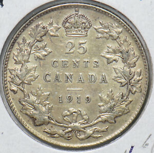 Canada 1919 25 Cents 490452 combine shipping