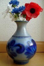 Schöne Vase Steingut mit Blümchen Handarbeit