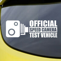 Speed Camera Test Vehicle Sticker Funny Vinyl Decal Car Window Bumper Van Turbo