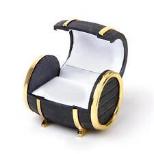 Beer Barrel Jewelry Box Wedding Rings Earrings Display Case Storage Vintage