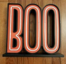"""Halloween """"Boo"""" Lite Sign with LED Bulbs - Hyde and Eek! Light Sign! Stand Up"""