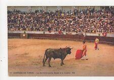 Corrida de Toros La Derniere Suerte Spain Vintage Postcard 461a