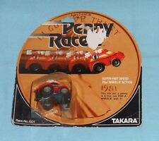 vintage Takara Penny Racers PENNY RACERS red BACK PACKER MOC