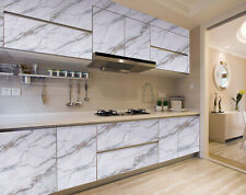 Marble Wallpaper Self Adhesive Wall Stickers Kitchen Cabinet Decor Aluminum Foil