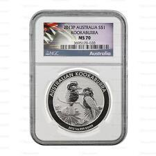 New 2013P Australian Silver Kookaburra 1oz NGC MS70 Graded Slab Coin