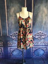 Moulinette Soeurs Silk Monet-Like Watercolor Tulip Dress SZ 12 Tie Waist Blouson