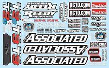 Associated RC8T3/T3E Decal Sheet - ASC81325