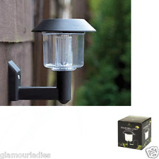 1 x Solar Powered LED Garden Small Wall Light Outdoors Lantern - No Wires