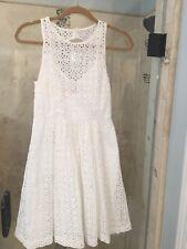 Plenty by Tracy Reese Mompos White Eyelet Dress S 4 Engagement Wedding