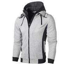 Men's Autumn Winter Hoodie Hooded Sweatshirt Coat Jacket Outwear Jumper Sweater