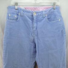 Women's Pants Lands' End Size 8P Corduroy Blue Stretch