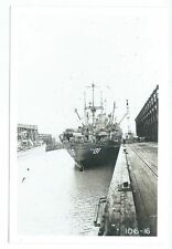 Bouteourt PA 136 ship at dock photo taken during WWII 4X6 unknown place 106-16