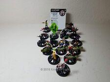 Complete Set 16 Rare - DC Harley Quinn & Gotham Girls HeroClix Miniature Lot