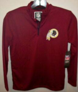 Washington Redskins NFL Ultra Game Boys Quarter-Zip Jacket Pullover