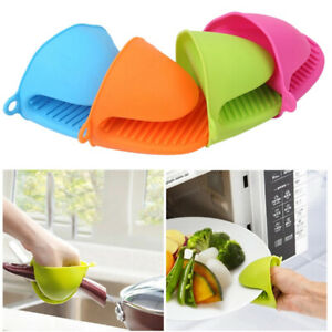 Silicone POT HOLDER OVEN MITT GLOVE 10 colours HEAT RESISTANT THICK SILICONE(UK)