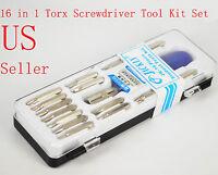 16 in 1 Torx Screwdriver Tool Kit Set T5 T6 T8 T10 T15