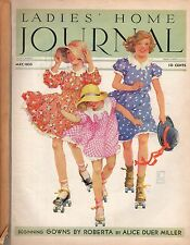 1933 Ladies Home Journal May-Roller Skating; Teddy Roosevelt shot; Using lead